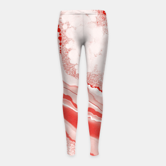 Thumbnail image of Coral Pink Agate Gem Abstract Girl's leggings, Live Heroes