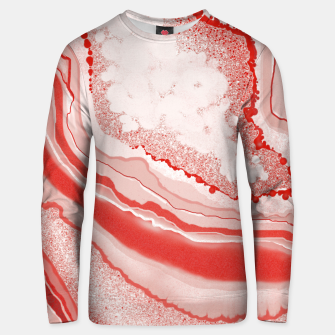 Thumbnail image of Coral Pink Agate Gem Abstract Unisex sweater, Live Heroes