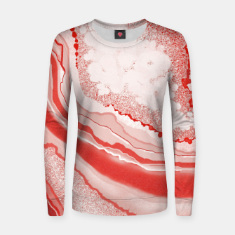 Thumbnail image of Coral Pink Agate Gem Abstract Women sweater, Live Heroes