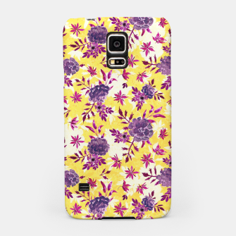 Thumbnail image of Romantic Vibrant Yellow Purple Floral Samsung Case, Live Heroes