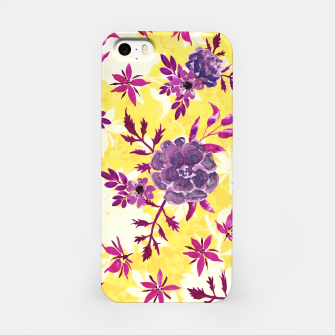 Thumbnail image of Romantic Vibrant Yellow Purple Floral iPhone Case, Live Heroes