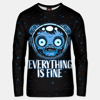 Thumbnail image of Zombie Astronaut Is Fine Unisex sweater, Live Heroes