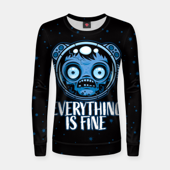 Thumbnail image of Zombie Astronaut Is Fine Women sweater, Live Heroes