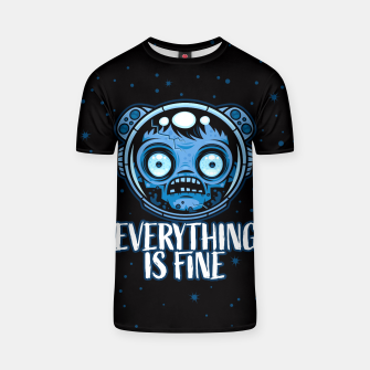 Thumbnail image of Zombie Astronaut Is Fine T-shirt, Live Heroes