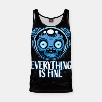 Thumbnail image of Zombie Astronaut Is Fine Tank Top, Live Heroes