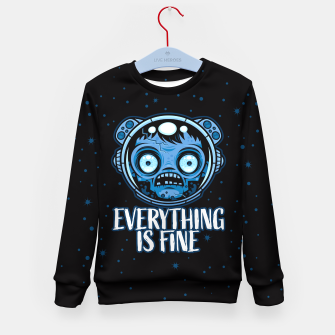 Thumbnail image of Zombie Astronaut Is Fine Kid's sweater, Live Heroes