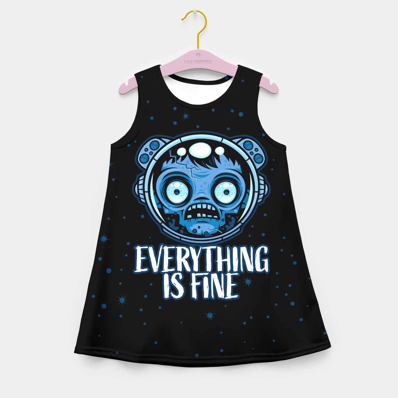 Image of Zombie Astronaut Is Fine Girl's summer dress - Live Heroes