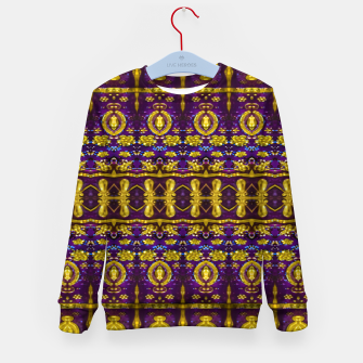 Thumbnail image of Fancy Ornate Pattern Mosaic Kid's sweater, Live Heroes
