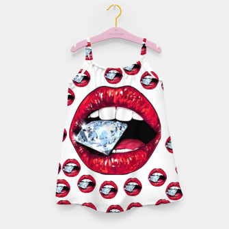 Thumbnail image of Lips Diamonds CBDOilPrincess   Girl's dress, Live Heroes