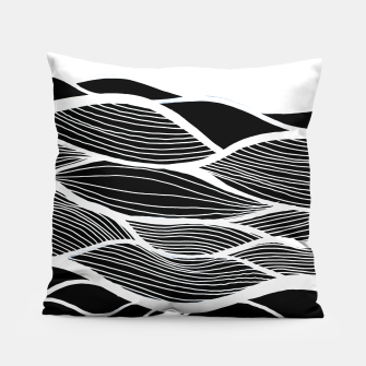 Miniatur Waving Harmonic Fields - Black and White Invert Pillow, Live Heroes