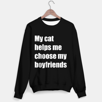 Thumbnail image of May cat helps me choose my boyfriend Sweater regular, Live Heroes