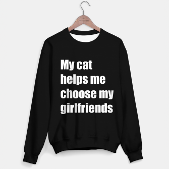 Thumbnail image of My cat helps me choose my girlfriend Sweater regular, Live Heroes