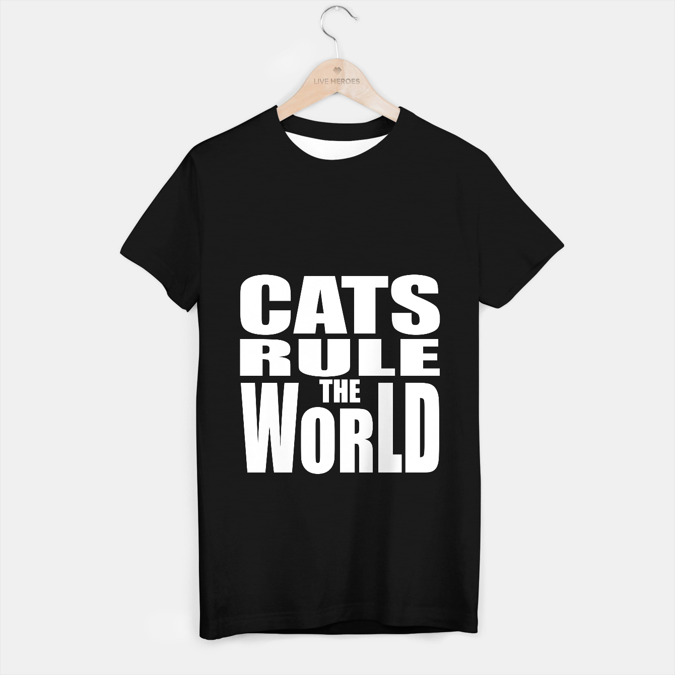 Image of Cats rule the world T-shirt regular - Live Heroes