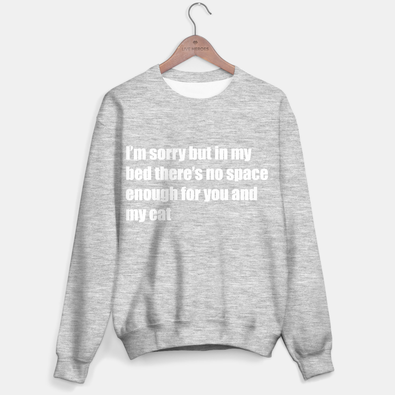 Image of Not space enough in my bed Sweater regular - Live Heroes