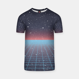Thumbnail image of Spaced Out Full-Print Vaporwave T-shirt, Live Heroes