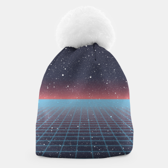 Thumbnail image of Spaced Out Vaporwave Beanie, Live Heroes