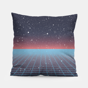 Thumbnail image of Spaced Out Vaporwave Pillow, Live Heroes
