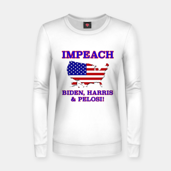 Thumbnail image of IMPEACH BIDEN HARRIS AND PELOSI CBDOilPrincess Women sweater, Live Heroes