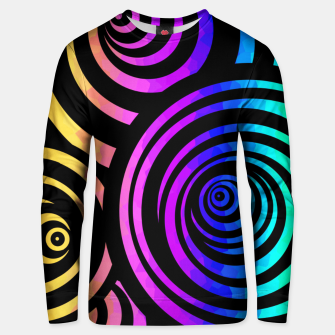 Thumbnail image of Color Whirl 3D Unisex sweater, Live Heroes