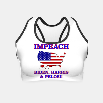 Thumbnail image of IMPEACH BIDEN HARRIS AND PELOSI CBDOilPrincess Crop Top, Live Heroes