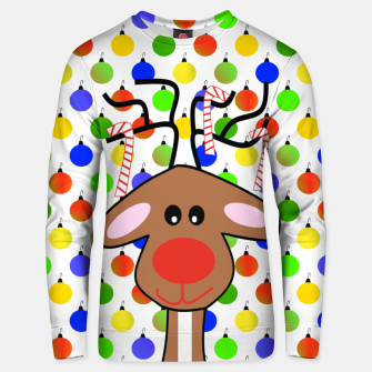 Thumbnail image of Festive Holiday Reindeer Unisex sweater, Live Heroes