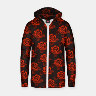 Thumbnail image of Velvet Red Roses  Sudadera con capucha y cremallera , Live Heroes