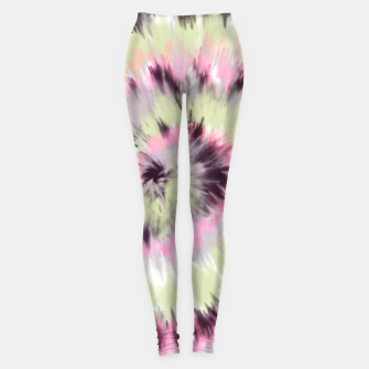 Thumbnail image of Tie dye vibrant colorful 90 Leggings, Live Heroes