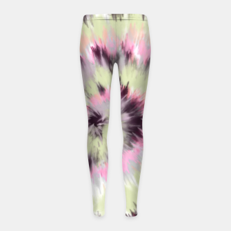 Thumbnail image of Tie dye vibrant colorful 90 Leggings para niña, Live Heroes