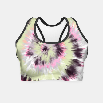 Thumbnail image of Tie dye vibrant colorful 90 Crop Top, Live Heroes
