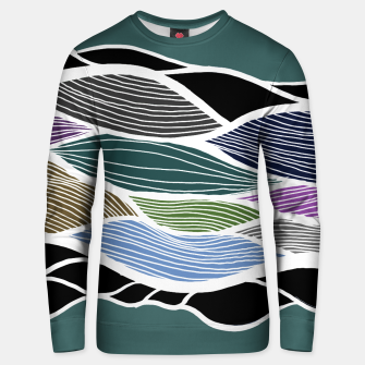 Miniatur Waving Harmonic Color Fields on Turquise Unisex sweater, Live Heroes
