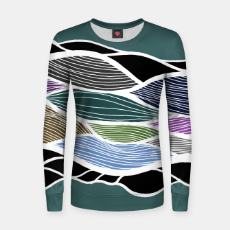Miniatur Waving Harmonic Color Fields on Turquise Women sweater, Live Heroes
