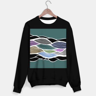 Miniatur Waving Harmonic Color Fields on Turquise Sweater regular, Live Heroes
