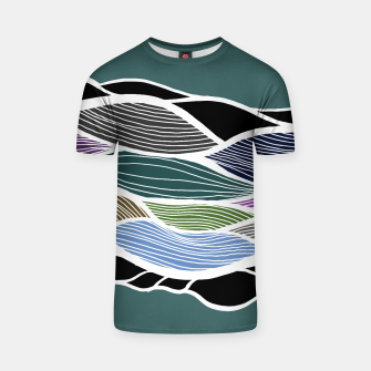 Miniatur Waving Harmonic Color Fields on Turquise T-shirt, Live Heroes