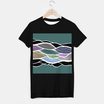 Miniatur Waving Harmonic Color Fields on Turquise T-shirt regular, Live Heroes