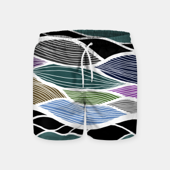 Miniatur Waving Harmonic Color Fields on Turquise Swim Shorts, Live Heroes