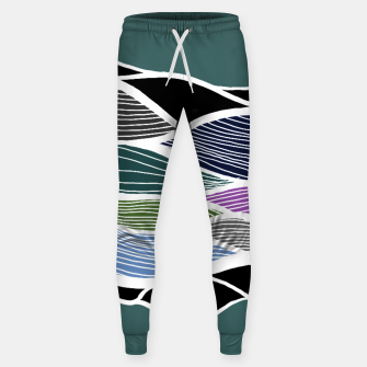 Miniatur Waving Harmonic Color Fields on Turquise Sweatpants, Live Heroes