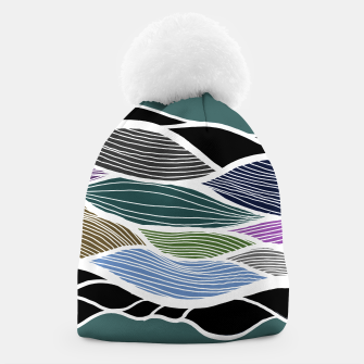 Miniatur Waving Harmonic Color Fields on Turquise Beanie, Live Heroes