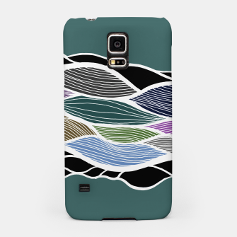 Miniatur Waving Harmonic Color Fields on Turquise Samsung Case, Live Heroes