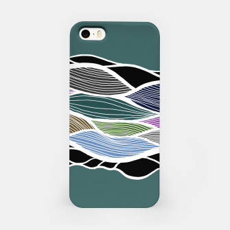 Miniatur Waving Harmonic Color Fields on Turquise iPhone Case, Live Heroes