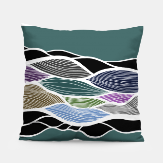 Miniatur Waving Harmonic Color Fields on Turquise Pillow, Live Heroes
