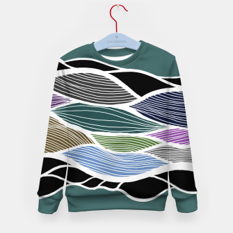 Miniatur Waving Harmonic Color Fields on Turquise Kid's sweater, Live Heroes