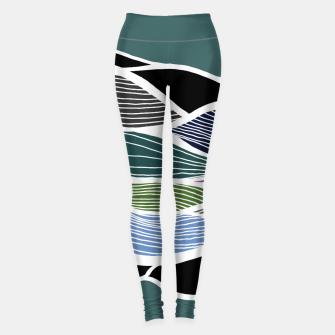 Miniatur Waving Harmonic Color Fields on Turquise Leggings, Live Heroes