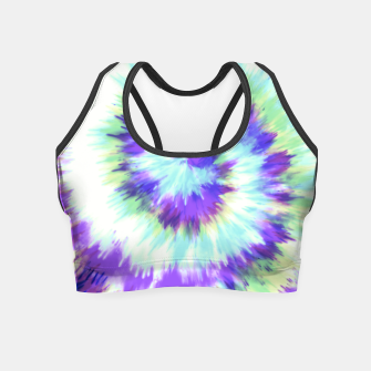 Thumbnail image of Lilac tie dye 34V Crop Top, Live Heroes