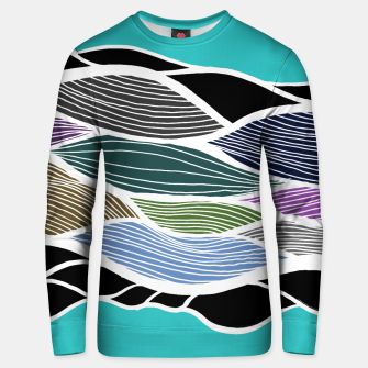 Miniatur Waving Harmonic Color Fields on Light Turquise Unisex sweater, Live Heroes