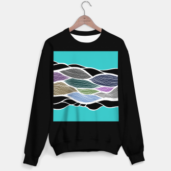 Thumbnail image of Waving Harmonic Color Fields on Light Turquise Sweater regular, Live Heroes