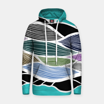Thumbnail image of Waving Harmonic Color Fields on Light Turquise Hoodie, Live Heroes
