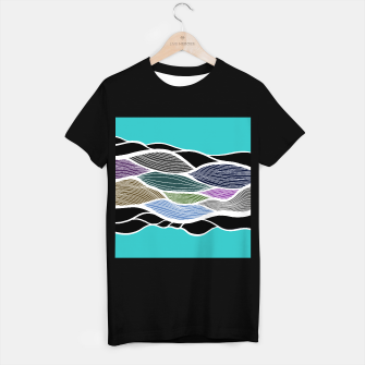 Miniatur Waving Harmonic Color Fields on Light Turquise T-shirt regular, Live Heroes