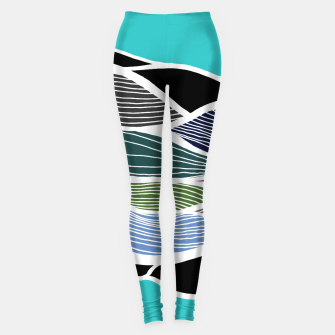 Miniatur Waving Harmonic Color Fields on Light Turquise Leggings, Live Heroes