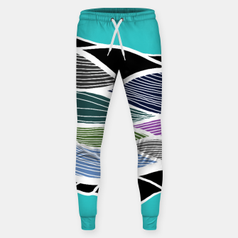 Miniatur Waving Harmonic Color Fields on Light Turquise Sweatpants, Live Heroes