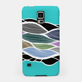 Miniatur Waving Harmonic Color Fields on Light Turquise Samsung Case, Live Heroes